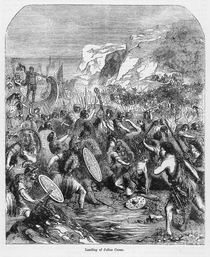 55 B.c. Photograph - Roman Invasion Of Britain by Granger