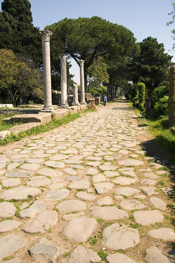 Roman Road Photograph - Roman Road, Ostia Antica by Sheila Terry