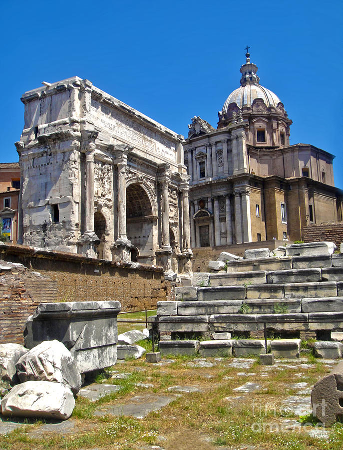 Roman Ruins Photograph - Roman Ruins - Roman Forum by Gregory Dyer