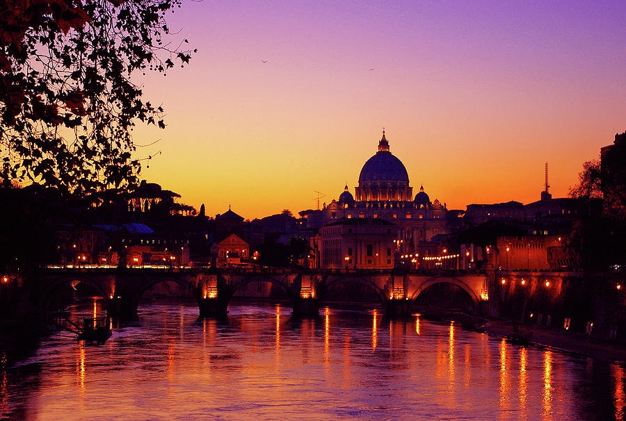 Horizontal Photograph - Roman Sunset by Karl Borg