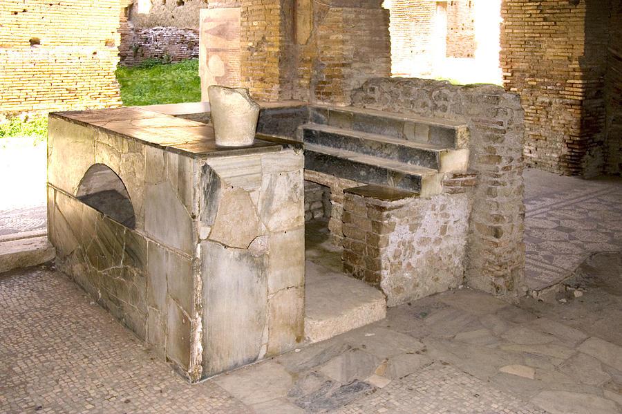 Thermopolium Photograph - Roman Tavern, Ostia Antica by Sheila Terry