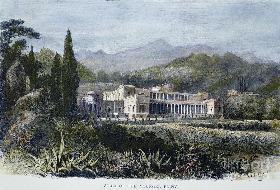1st Century Photograph - Roman Villa by Granger