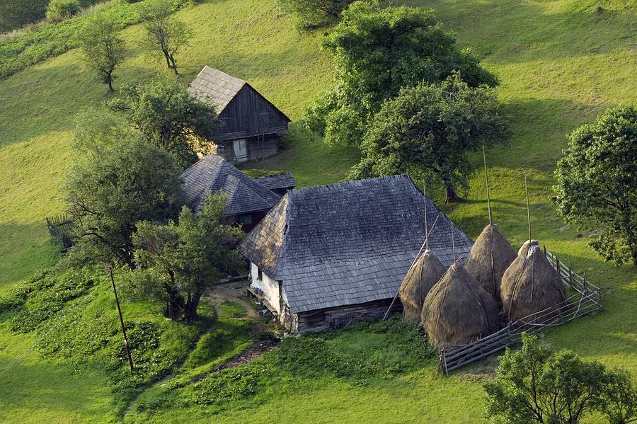Building Photograph - Romanian Farm Buildings by Bob Gibbons