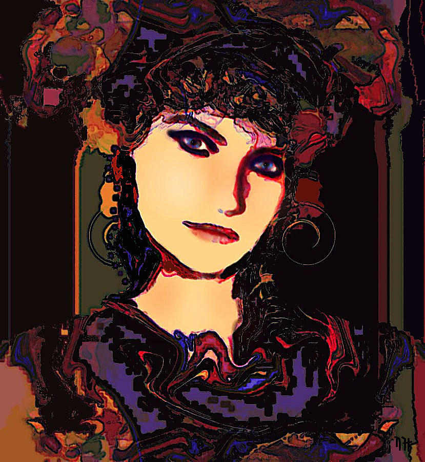 Romantic Mixed Media - Romantic Lady by Natalie Holland