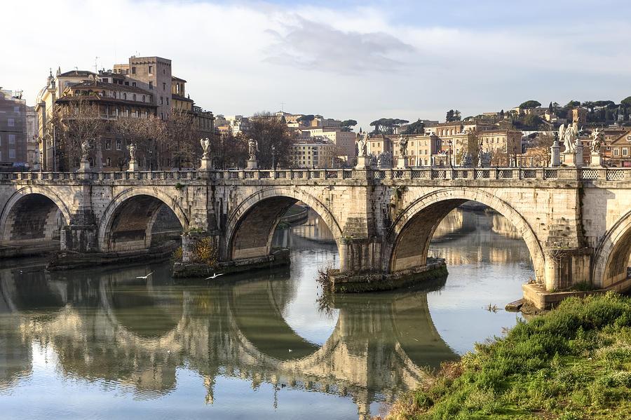 Ponte Sant'angelo Photograph - Rome - Ponte Santangelo by Joana Kruse