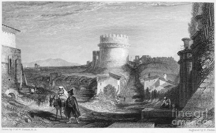 1833 Photograph - Rome: Appian Way, 1833 by Granger