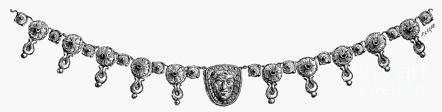 1st Century Photograph - Rome: Gold Necklace by Granger