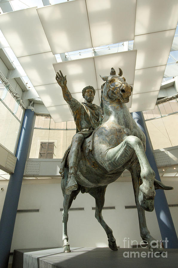 Worth Photograph - Rome Italy. Capitoline Museums Emperor Marco Aurelio by Bernard Jaubert