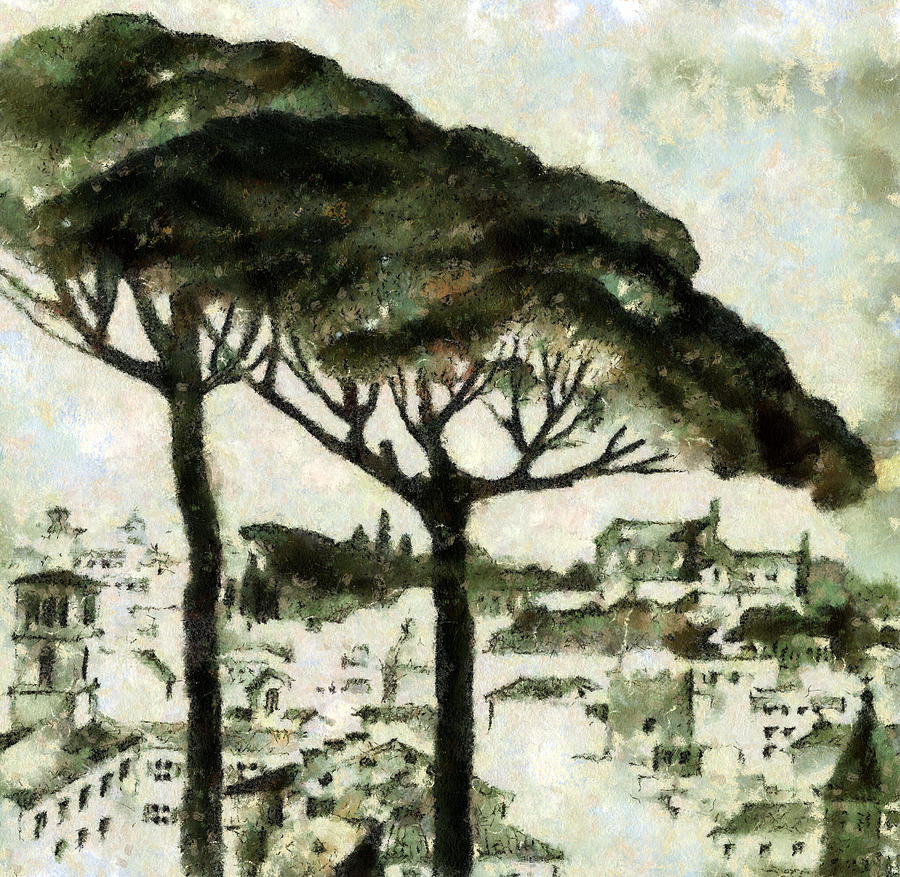 Nature Painting - Rome by Odon Czintos