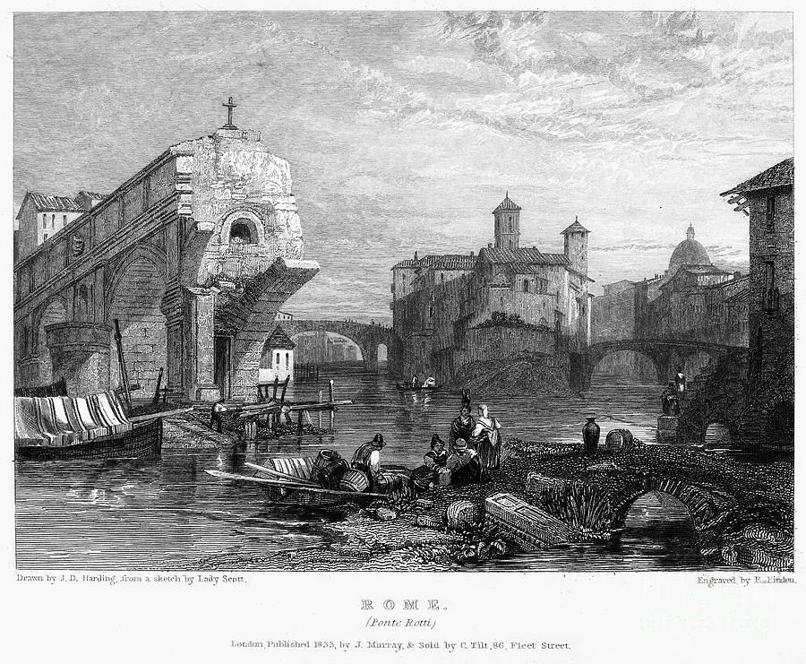 1833 Photograph - Rome: Ponte Rotto, 1833 by Granger