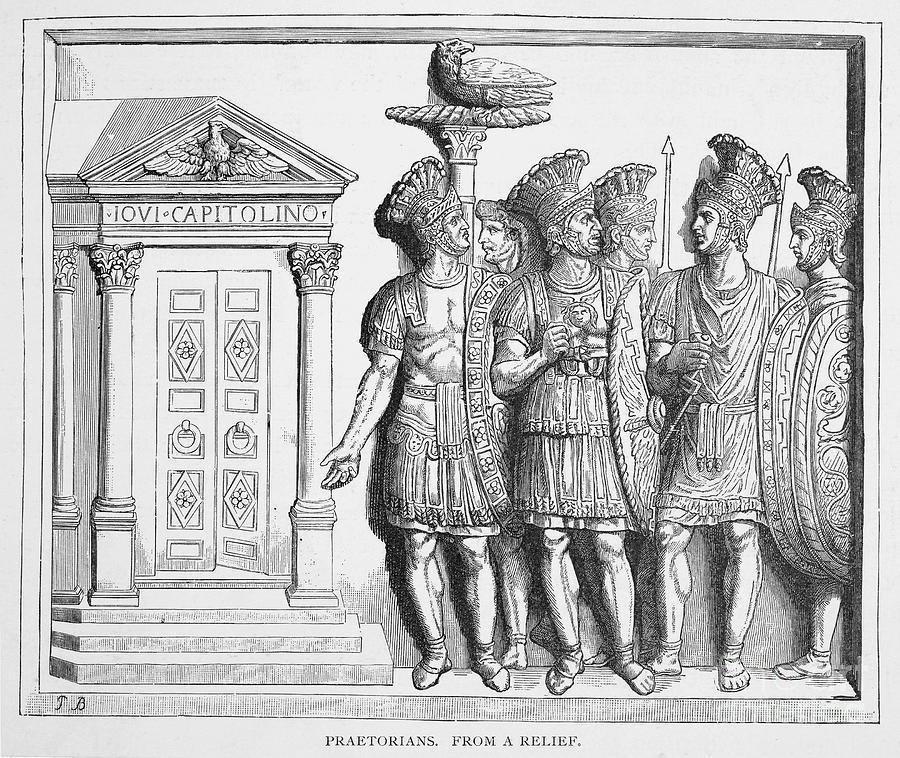 Ancient Photograph - Rome: Praetorian Guards by Granger