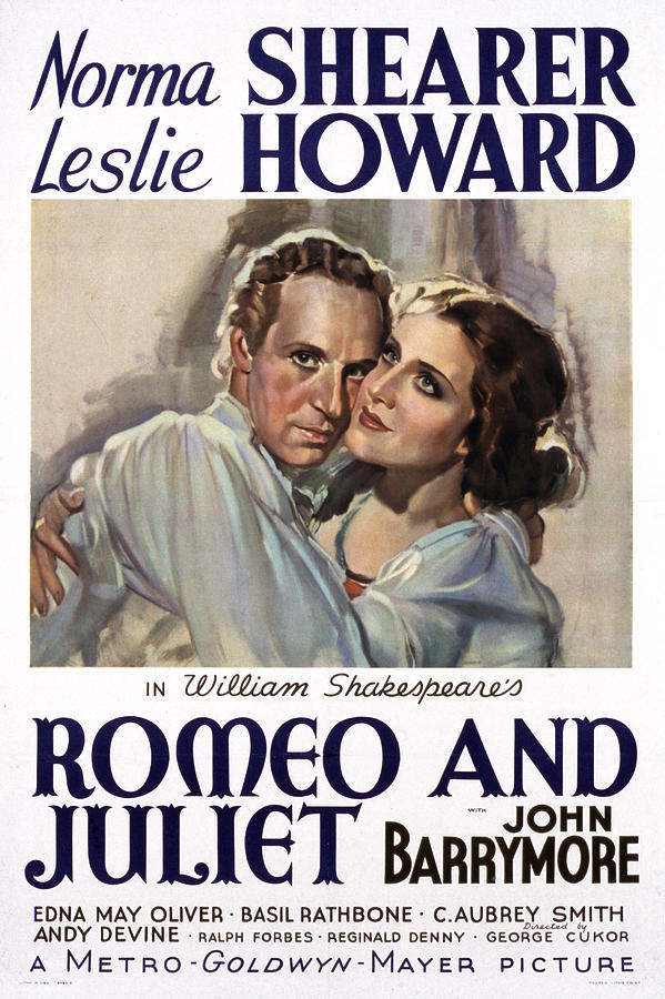 1930s Movies Photograph - Romeo And Juliet, Leslie Howard, Norma by Everett