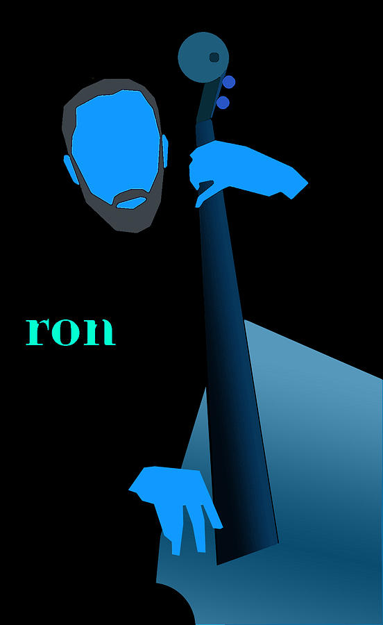 Jazz Digital Art - Ron Carter Blue by Victor Bailey