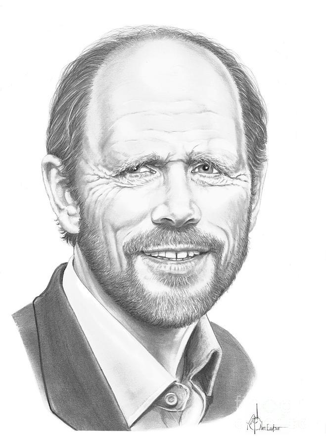 Pencil Drawing - Ron Howard by Murphy Elliott