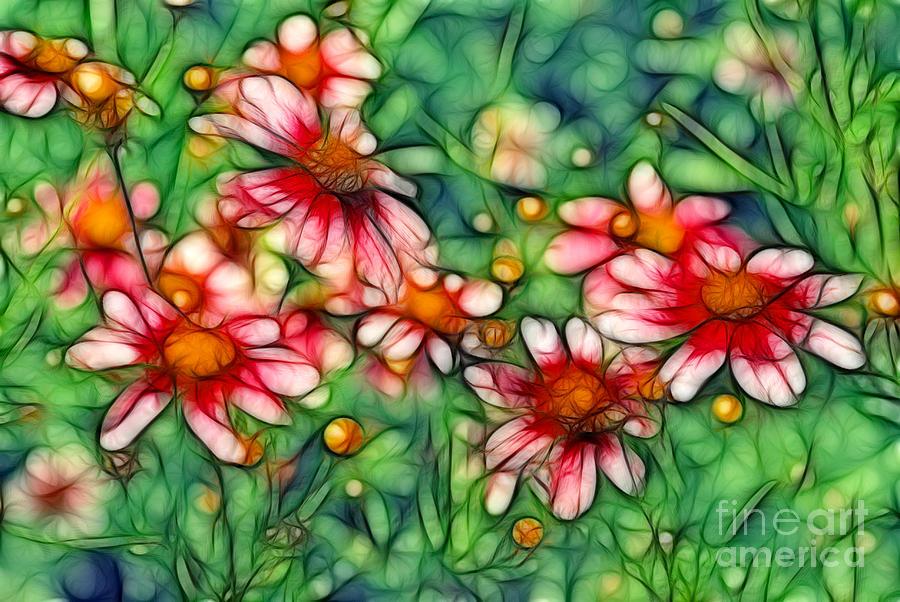 Daisies Digital Art - Rondo by Aimelle