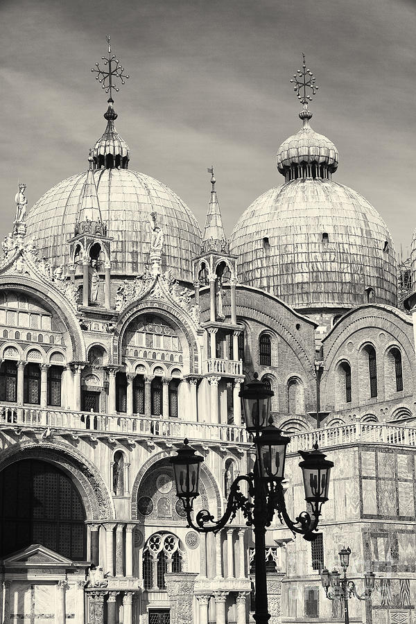 Basilica Photograph - Roof And Facade Of St Mark Basilica  by George Oze