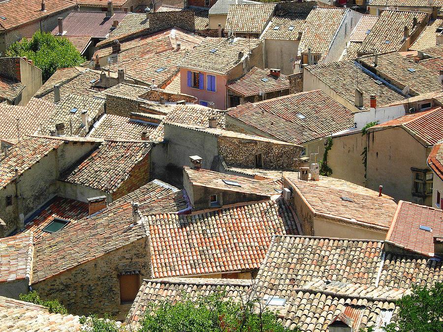 Horizontal Photograph - Roofs Of Provence by Bernard Gaillot