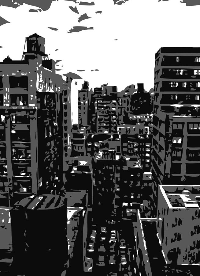 New York City Rooftop Photograph - Rooftop Bw3 by Scott Kelley