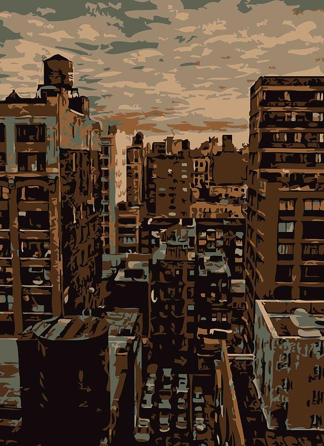 New York City Rooftop Photograph - Rooftop Color 6 by Scott Kelley