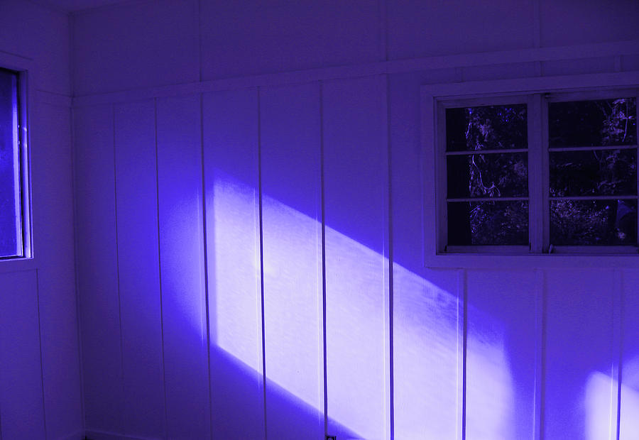 Ultra Violet Light In Room Photograph - Room With A Mood by Kym Backland