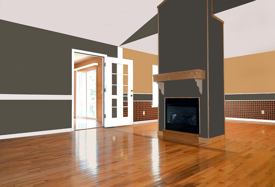 Home Photograph - Room With Fireplace by Susan Leggett
