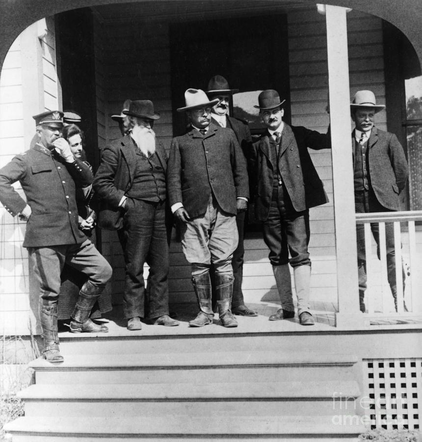 1903 Photograph - Roosevelt & Burroughs, C1903 by Granger