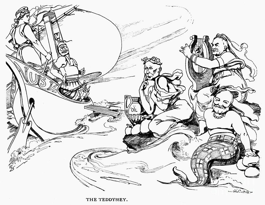 1907 Photograph - Roosevelt Cartoon, 1907 by Granger