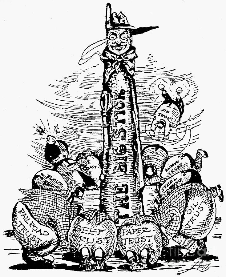 1904 Photograph - Roosevelt Cartoon, C1904 by Granger
