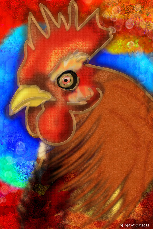 Chicken Digital Art - Roost King by Melisa Meyers