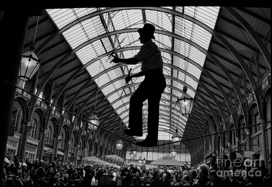 Covent Garden Street Performers Photograph - Ropewalker In Covent Garden by Aldo Cervato
