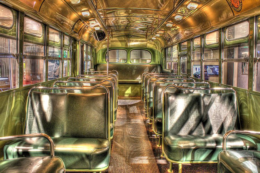 Photograph - Rosa Parks Bus Inside Dearborn Mi by Nicholas  Grunas