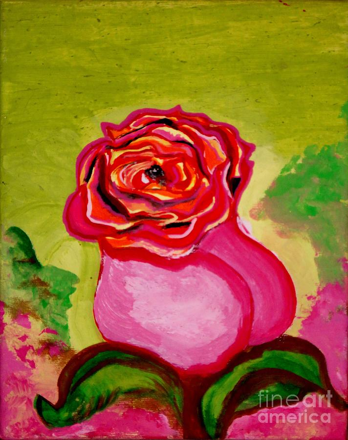 Rose Pedals Painting - Rosalicious by Michael Henzel