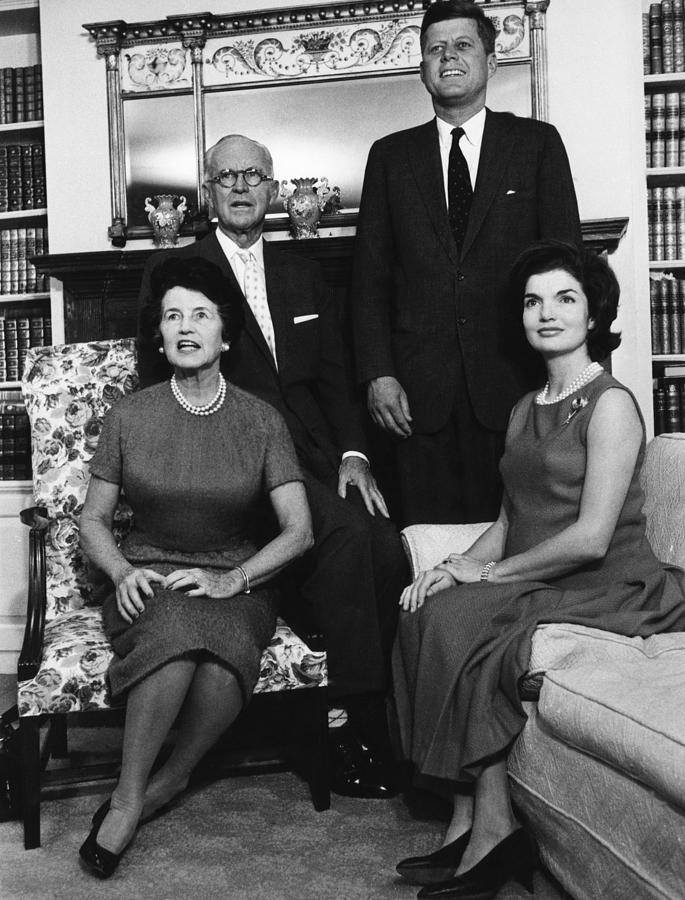 Books Photograph - Rose Kennedy, Joseph P. Kennedy, John by Everett
