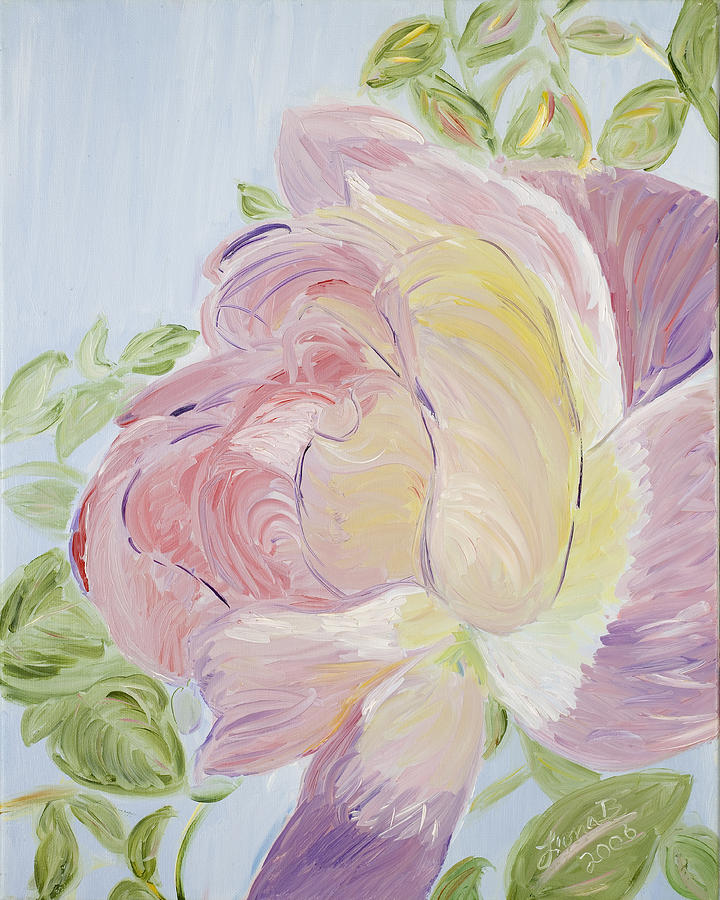 Rose Painting - Rose by Leona Bushman