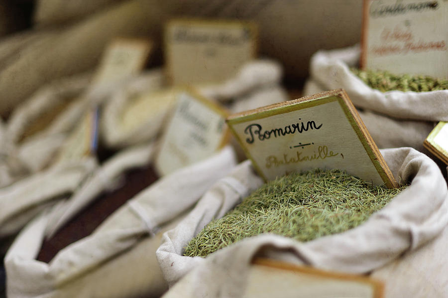 Horizontal Photograph - Rosemary And Provencal Herbs In Farmers Market by Alexandre Fundone