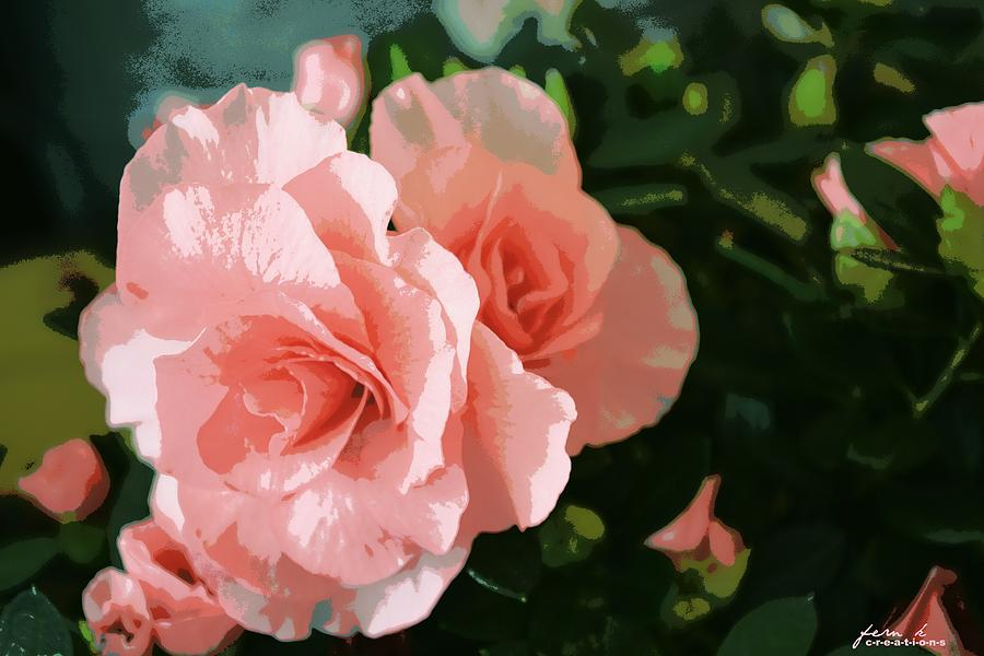 Rose Photograph - Roses Are Pink by Fern Korn