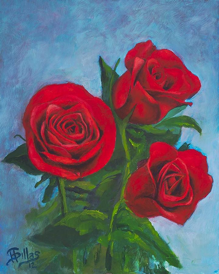 Flowers Painting - Roses by Herman Sillas