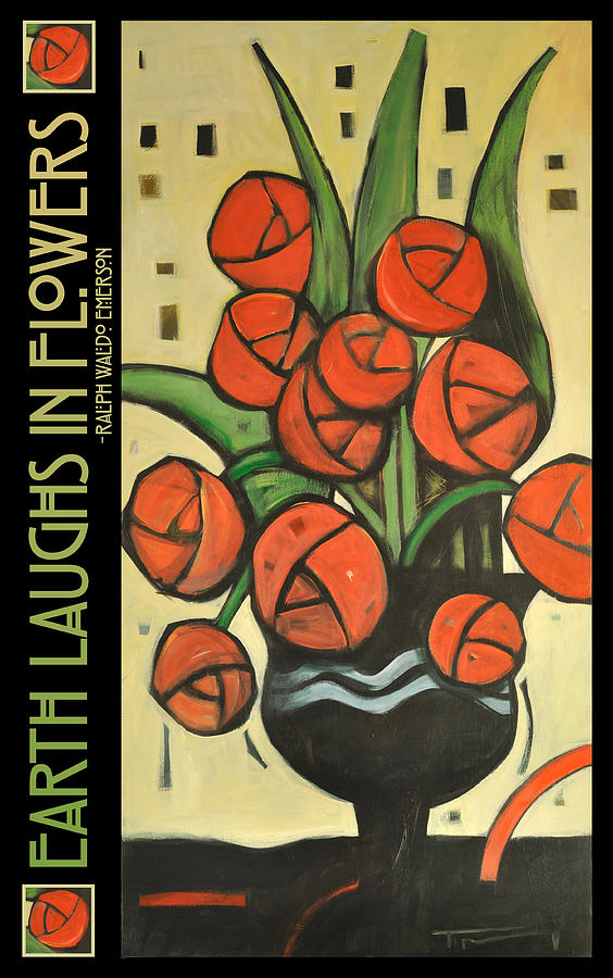 Roses Painting - Roses In Vase Poster by Tim Nyberg
