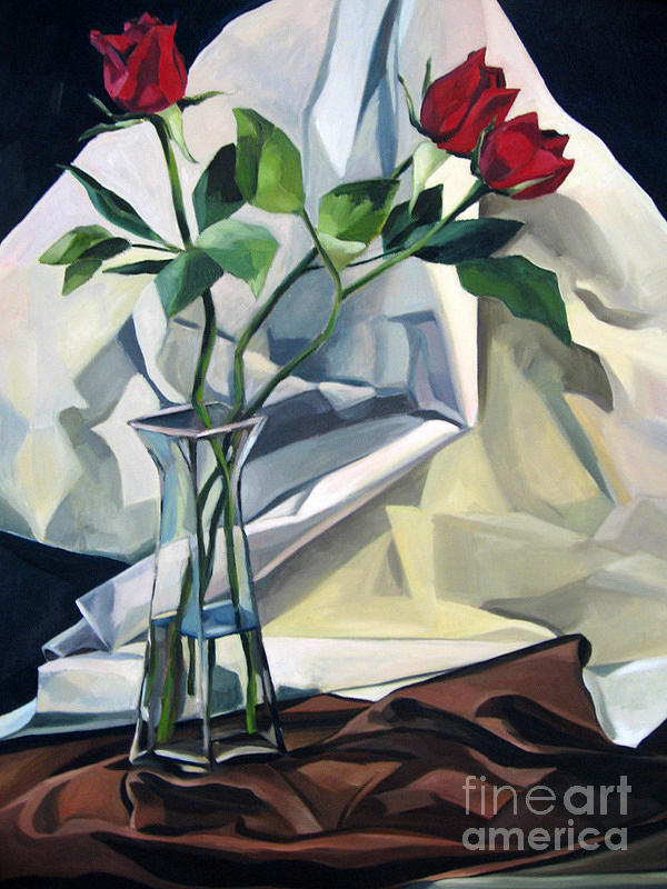 Roses Painting by Lisa Dionne
