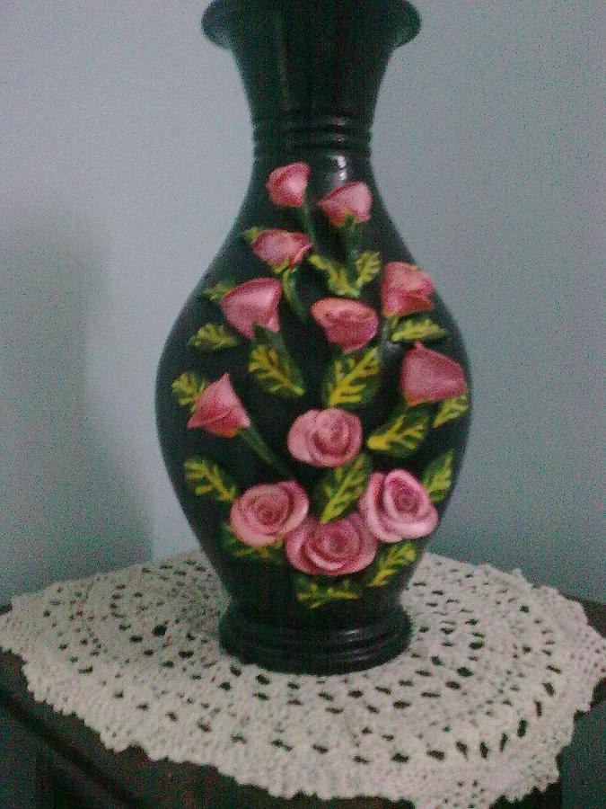 Roses Ceramic Art - Roses by Mareena George