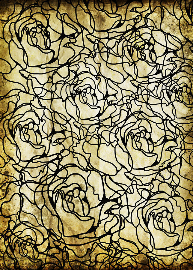 Abstract Photograph - Roses Pattern by Setsiri Silapasuwanchai