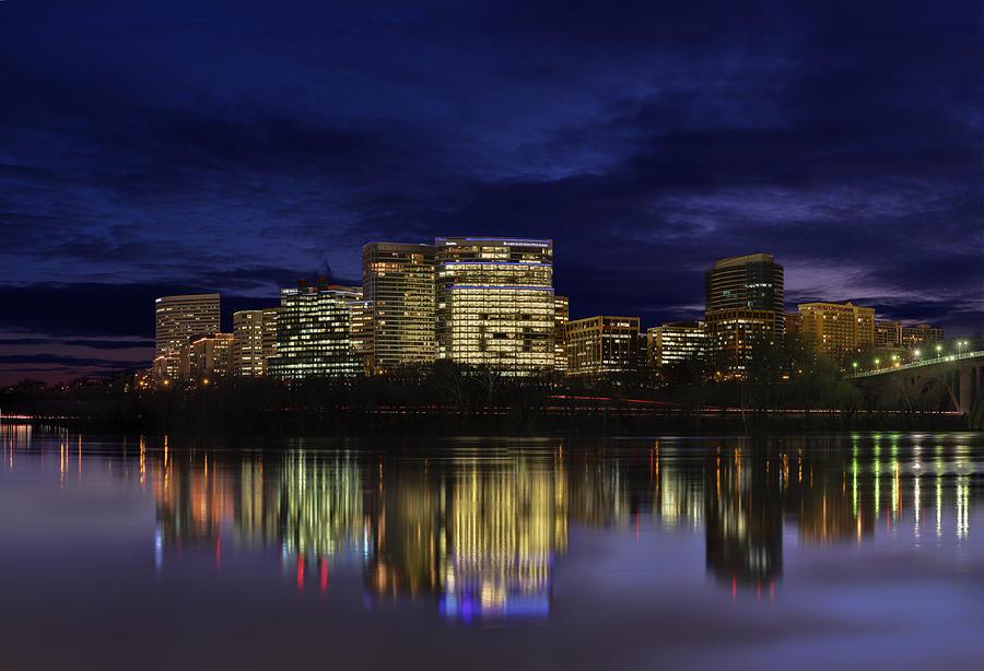 Skyline Photograph - Rosslyn Skyline by Metro DC Photography