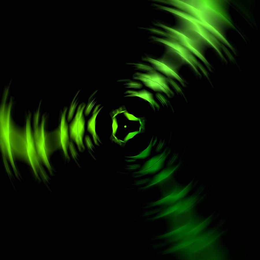 Rotation Green Digital Art by Steve K