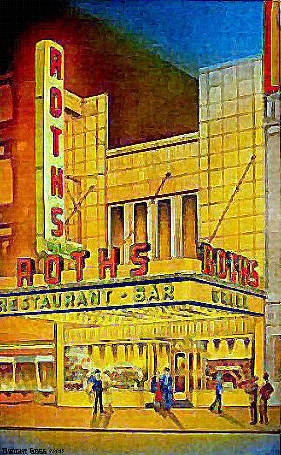 Restaurants Painting - Roths Restaurant In New York City In 1939 by Dwight Goss