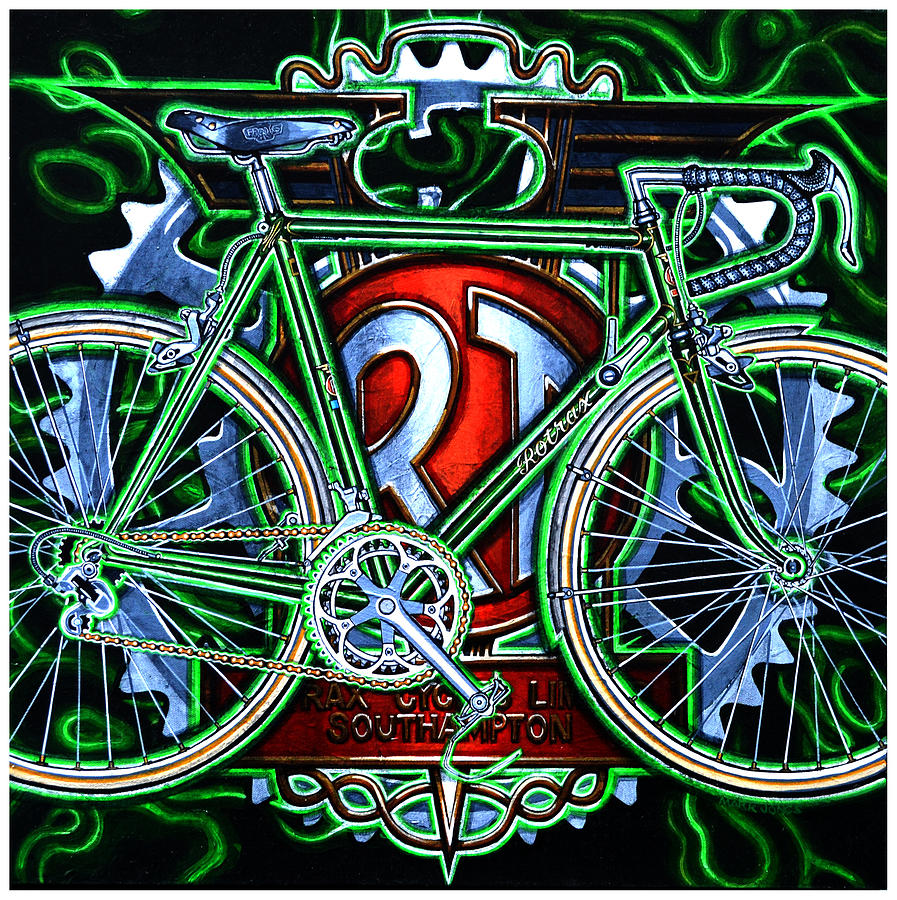 Bicycle Painting - Rotrax by Mark Jones