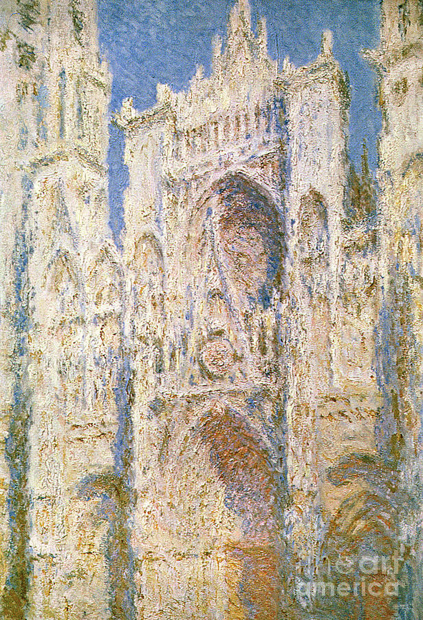 France Painting - Rouen Cathedral by Claude Monet