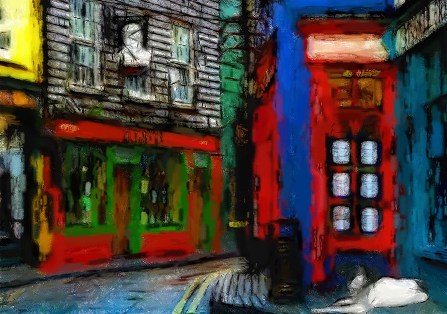 Round The Corner Pastel by Steve K