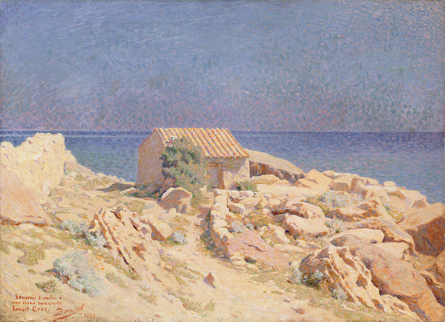 Rocks Painting - Roussillon Landscape by Georges Daniel de Monfreid