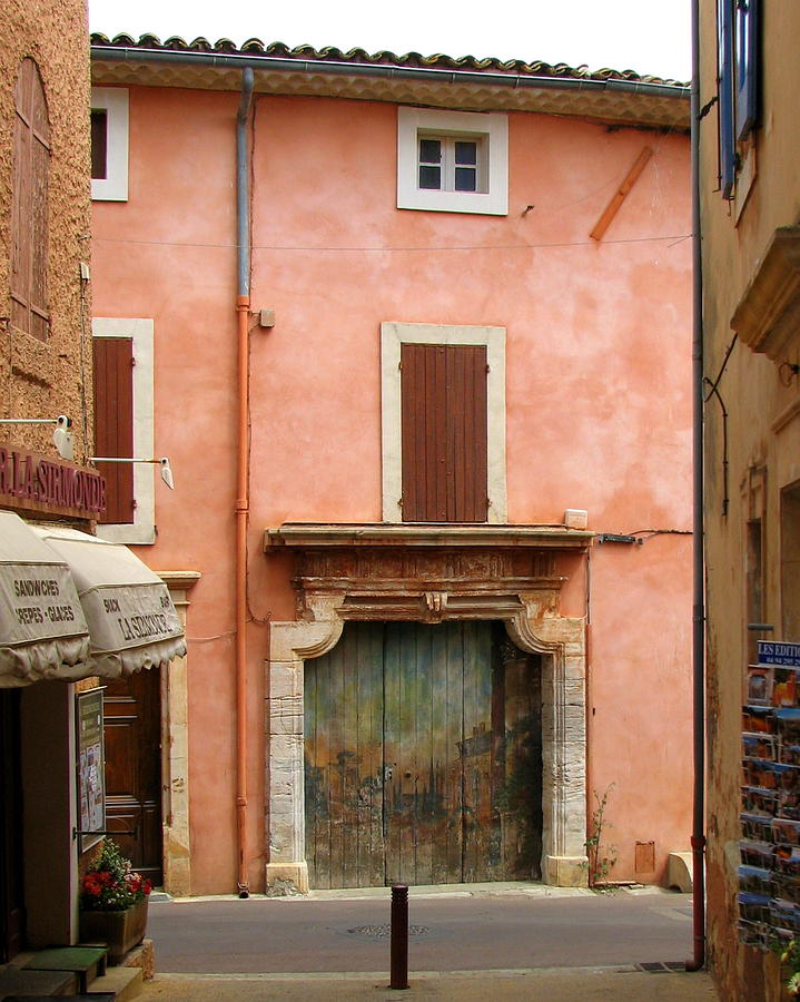Garage Photograph - Roussillon Painted Door by Carla Parris