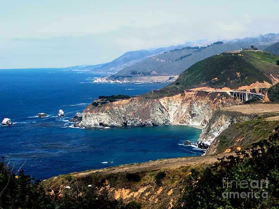 California Photograph - Route 1  California Pacific Coast  by The Kepharts
